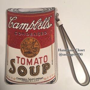 COACH CORNER ZIP WRISTLET WITH CAMPBELL'S MOTIF